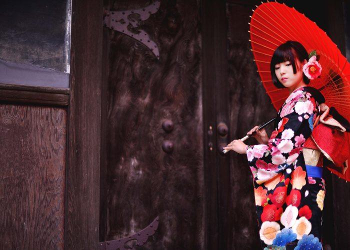 鳥取で成人式振袖を着て前撮りをした写真です2