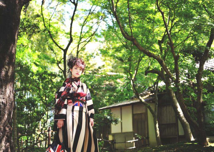 鳥取で成人式振袖を着て前撮りをした写真です4